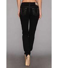 NEW $329 True Religion Jeans Stella Super T Black Skinny Lowrise Denims 27-30x33