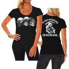 Frauen Girls T-Shirt So viele Arschlöcher und nur eine Sense krasse Sprüche Fun