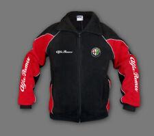 Man's Alfa Romeo Fleece Jacket Sport Embroidered Polar, Fan Merchandise, Black