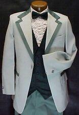 After Six Vintage 2 tone Green Tuxedo Jacket or 4pc Retro Mens Tux Weddings Prom