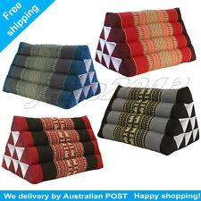 5 COLORS Thai Triangle Pillow Pad Cushion Handmade 100% Kapok Cotton