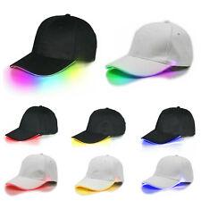 LED Neon Light Hip-Hop Hat Boys Girls Party Dance Golf Baseball Cap 16 Colors GL