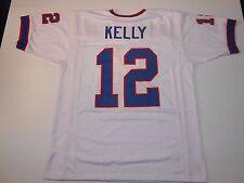 UNSIGNED CUSTOM Sewn Stitched Jim Kelly White Jersey - M, L, XL, 2XL