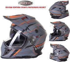 Motocross Enduro Helmet Matt Ventura Viper RX-V288 helmet Double Visor System