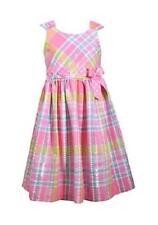BONNIE JEAN® Toddler Girl 3T, 4T Pink Seersucker Pull Through Dress NWT