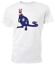 Australian Flag Kangaroo T shirt , Choice of size & colours, Australia Day