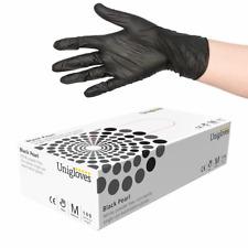 Uniglove Nitrile Gloves - Black Pearl Powder-Free - Tattoo Gloves - Box of 100