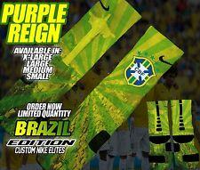 "NIKE RETRO JORDAN VI 6 ""BRAZIL"" Custom Nike Elite Socks (ALL SZ) WORLD CUP"