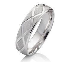 Verlobungsring aus 925 Silber mit echtem Diamant Ringe Gravur SEBK49
