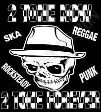 camiseta hombre Ska 2 Colores Música Reggae Punk Años 1970 Retro Mujer