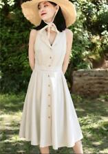 French Elegant Lady Vintage Plaid V Neck Shirt Skirt Empire Waist Slim Dress