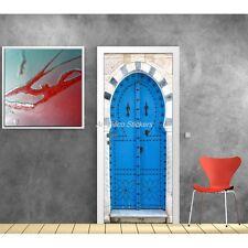 poster poster da Porta inganna l'occhio porta orientale blu 530 Art déco Adesivi