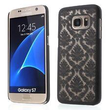 Damassé vintage motif arrière dur matte case cover pour Samsung S6 S7 edge + guard