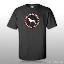 Danger Farting Doberman Pinscher T-Shirt Tee Shirt Free Sticker dog canine