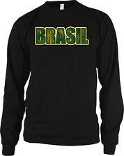 Brasil Text Bold Republica Federativa Do Brasil Brazil Long Sleeve Thermal