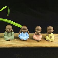 Hot!  1Pc Mini Buddha Statue Monk Statue Tea Pet Ceramic Craft Decor Ornaments