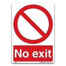No exit Sign - Vinyl Sticker - Prohibition Safety Access Information