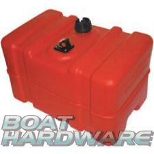 "Boat Outboard Fuel Tank Plastic 45 Litre Tall Profile + Gauge Petrol Diesel 1/4"""