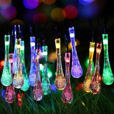 DIRIGE l'énergie solaire guirlande lumineuse String goutte d'eau jardin extérieu
