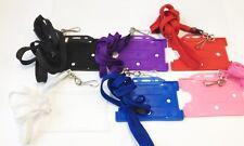 Open single faced Rigid Plastic ID Card Pass Badge Holder Lanyard Neck Strap