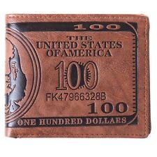 Vogue Men's US Dollar Bill Wallet PU Leather Bifold Credit Card Photo Holder -JJ