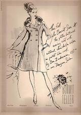 60's Kenneth Paul Block Illustrated Bonwit Teller Fashion Ad  1965
