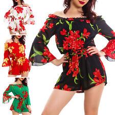 Overall donna tutina intera floreale gonna velata elegante abito chiffon VB-8878