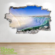 Rainbow Cascata Wall Sticker 3d Look-Camera da Letto Salotto Natura murali z79