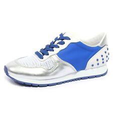 B1974 sneaker donna TOD'S SPORTIVO YO ALLACCIATA argento/blu shoe woman