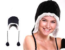 Cappello cuffia donna invernale peruviano con pon pon e paraorecchie vari colori