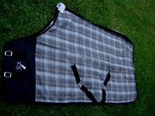 Horse Cotton Sheet Blanket Rug Summer Spring Black Grey 5301