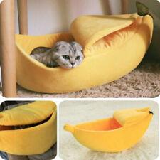 Banana Peel Shape Cat House Cute Bed Soft Plush Padding House Cushion for Cats