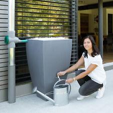 Regentonne eckig Regenwassertank Regenwassertonne Modena 200 L grau Wassertank