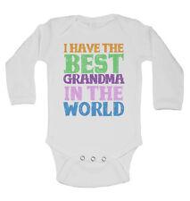 Ich Habe the Best Grandma in the World, Langärmlig Baby Westen Body