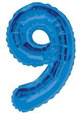 Bleu numéro 9 | 9th anniversaire | fête géant | ballons | hélium | foil balloon