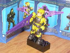 Mega Bloks 96978 HALO Series 5 UNSC YELLOW MARINE Micro Figure w/ Stand & Weapon