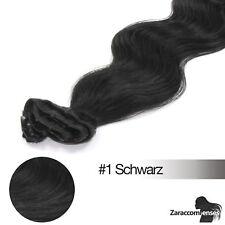 Remy Echthaar Clip In Extensions Haarverlängerung 60 cm GEWELLT TOP Qualität