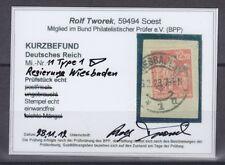 Deutsches Reich Dienstmarke Wiesbaden 11 Type 1 gestempelt geprüft Fotobefund