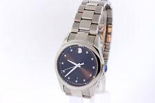 Men's Movado 0606496 Sportivo Stainless Diamond Black Museum Dial Date Watch