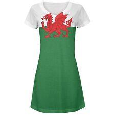 Welsh Flag Juniors V-Neck Beach Cover-Up Dress