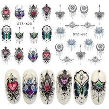 Butterfly Chandelier Petal Nail Art Sticker Water Transfer Decal Manicure Flower