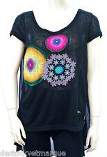 DESIGUAL TS Sonora Tee Shirt Tunique femme 50T24F7 coloris 2000 noir TAILLE XS