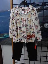 NOS Harley Davidson Girls Baby 2 Piece Flower Print Pant Set SGI 3322372