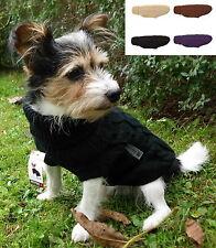 Wolters Hunde Pullover Zopf Strickpullover schwarz braun beige brommbeer 20-50cm