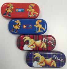 Kinderbrillenetui HASE FELIX Etui Hard Case Brillenbox Metalletui für Kinder