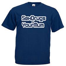 Drogas Sexo & tu mamá Festival Adultos Camiseta para hombre