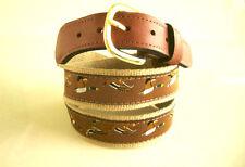 ZEP-PRO Embroidered Leather Canvas Ribbon MALLARD Mallards DUCKS DUCK Belt