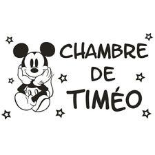 * 1 Sticker Mickey pour porte de chambre - Prénom au Choix *