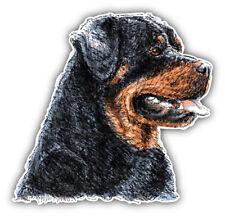 Rottweiler Dog Head Sketch Car Bumper Sticker Decal  -  9'', 12'' or 14''