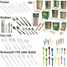 Besteck Einwegbesteck Einwegmesser Einweggabeln Einweglöffel Holz Plastik Party